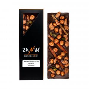 Tablette chocolat - Lait 40% Mendiants