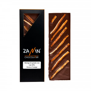 Tablette Chocolat - Lait 40% Ecorce d'orange