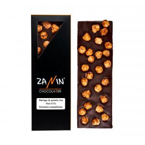 Tablette Chocolat - Noir 61% Noisettes Caramélisées