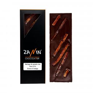 Tablette Chocolat - Noir 61% Ecorce d'orange