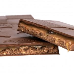 Tablette Chocolat Lait 40% - fourrée Gianduja Caramel