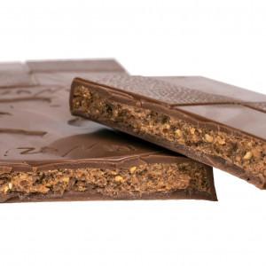 Tablette Chocolat Lait 40% - Fourrée Praliné Noisette
